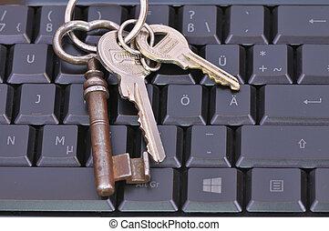 chiave calcolatore, tastiera