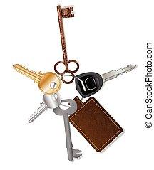 chiave, collezione, fob
