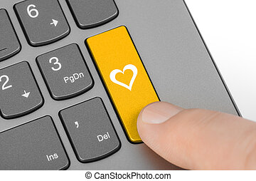 chiave, computer, amore, tastiera