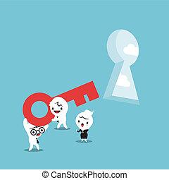 chiave, per, risolvere problema