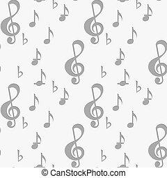 chiave, perforato, g, note musica