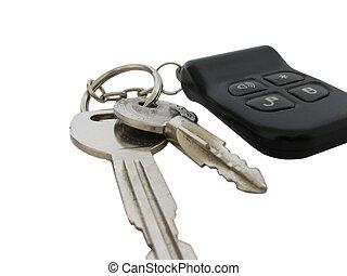 chiavi automobile, con, remoto