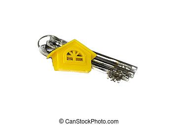 chiavi, casa, giallo