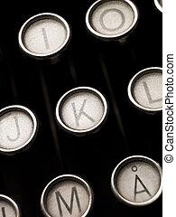 chiavi, macchina scrivere