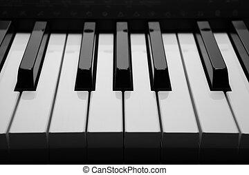 chiavi, macro, pianoforte