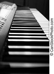 chiavi, pianoforte, primo piano