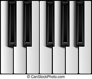 chiavi, pianoforte