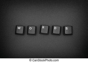 chiavi, scritto, computer, parola, tastiera