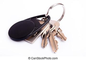 chiavi, su, keyring