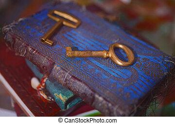 chiavi, vecchio, oro