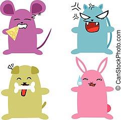 chibi animals - Is a EPS 10 Illustrator file