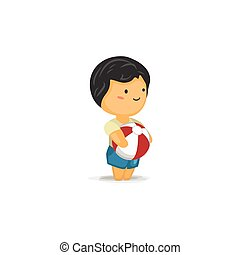 Chibi Boy with a Ball