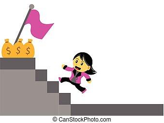 chibi, mulher, personagem, caricatura