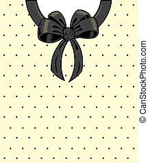 Chic polka dots and ribbon on a shirt detail illustration. ...