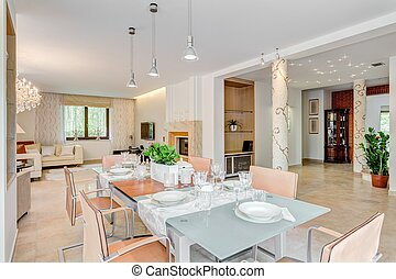 Chic residence ready for party - Horizontal picture of chic...