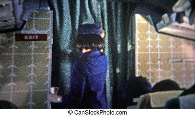 CHICAGO - 1966: Stewardess on an - Unique vintage 8mm film...