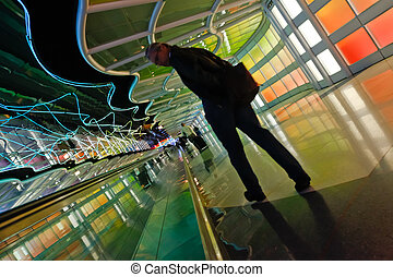 Chicago airport tunnel