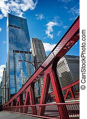 chicago, architecture, jour