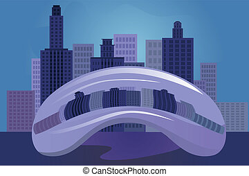 Chicago city - vector illustration of Chicago city