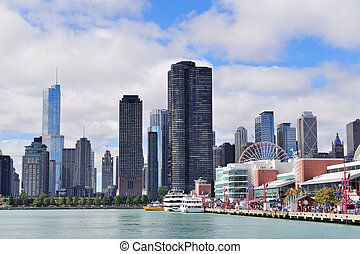 Chicago city downtown