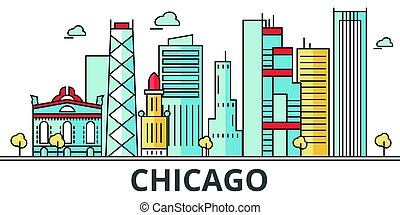 Chicago city skyline.