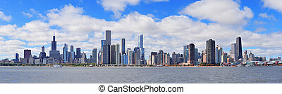 Chicago city urban skyline panorama
