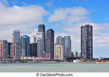 Chicago city urban skyline