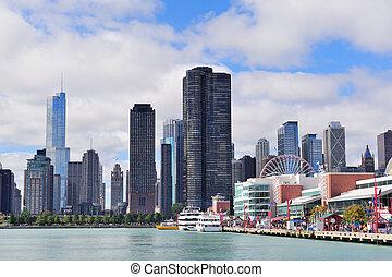 chicago, ciudad, céntrico