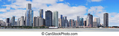 chicago, ciudad, perfil urbano, panorama