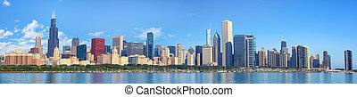 chicago, contorno, panorama