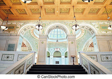Chicago Cultural Center interior view
