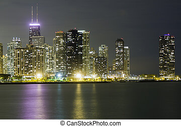 Chicago Downtown in Autumn