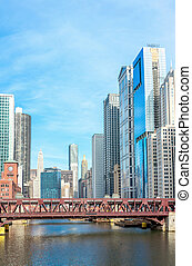 Chicago downtown panorama - Panorama Chicago downtown and ...