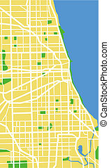 chicago - vector map of Chicago.