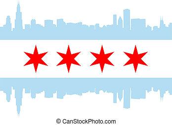 chicago, fahne