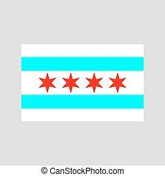 chicago, fahne, vektor