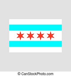Chicago flag vector - Chicago flag on white background...