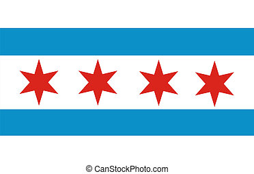 chicago flag - very big size of the american city chicago