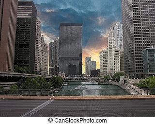 chicago, gratte-ciel, illinois