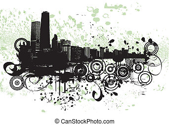 Chicago Grunge - View of Chicago - grunge style