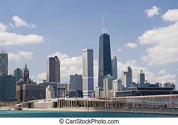 Chicago, Hancock Tower - Chicago skyline with Hancock Tower