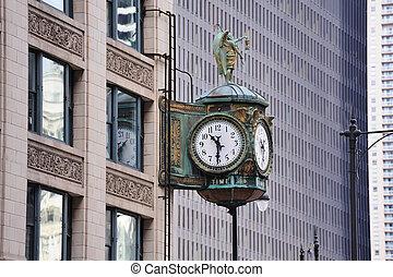 chicago, i centrum, gata, synhåll