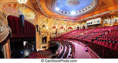 Chicago Theatre - CHICAGO, IL - Oct 6: Chicago Theatre...