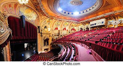 Chicago Theatre - CHICAGO, IL - Oct 6: Chicago Theatre...