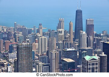 Chicago, Illinois in the United States. City skyline with...