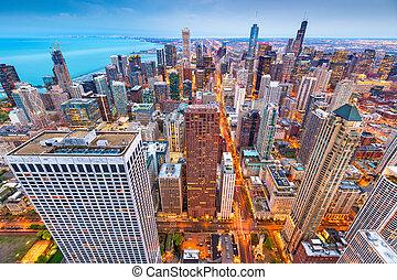 Chicago, Illinois, USA Aerial Cityscape - Chicago, Illinois,...