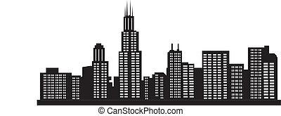 Chicago   - Chicago skyline