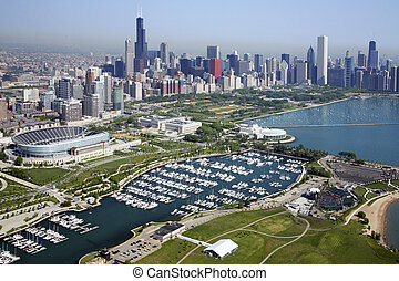 chicago, městská silueta