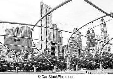Chicago, Millennium Park, skyline