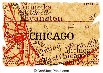 Chicago old map